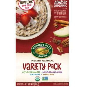 [送料無料] [50g×8袋] Nature's Path Instant Oatmeal Variety Pack ネイチャーズパス インスタント オートミール バラエティパック アップルシナモン マルチグレインレーズン フラックスプラス メープル