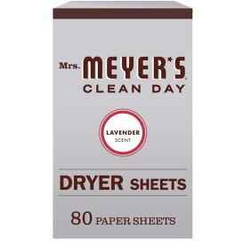 [送料無料] [80枚入り] Mrs. Meyer's ミセスマイヤーズ クリーンデイ ドライヤーシート ラベンダー いい香り アメリカ 乾燥機用シート Clean Day Dryer Sheets Lavender Scent, 80 ct [楽天海外直送]