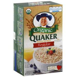 [送料無料] [224g×6箱] クエーカー レギュラー インスタント オートミール Quaker Organic Regular Instant Oatmeal 朝食 手軽 ヘルシー 簡単 アメリカ [楽天海外通販]