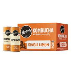 [送料無料] [8本] レメディー ジンジャー レモン コンブチャ 250ml 砂糖不使用 ビーガン Remedy Organic Ginger Lemon Kombucha Tea [楽天海外直送]