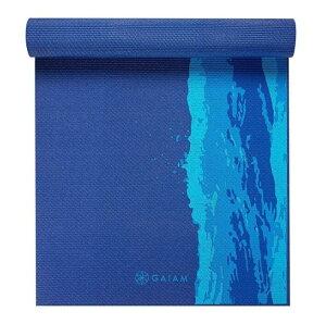 [送料無料] ガイアム プレミアム プリント ヨガマット オーシャンスケイプ 6mm Gaiam Premium Print Yoga Mat Oceanscape 滑り止め 厚手 軽量 筋トレ ホーム トレーニング ストレッチ エクササイズ ピラテ