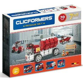[送料無料] ( 73 ピース ) Clicformers レスキュー 消防車 ファイヤートラック 乗り物 車ビルディング オモチャ組み立て セット キッズ 創造性 知育玩具 STEM おもちゃ 教育 学習 [楽天海外直送]