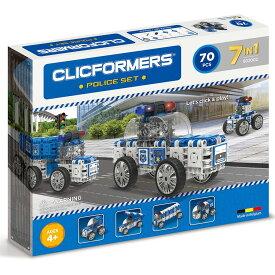 [送料無料] ( 72ピース ) Clicformers ブロック ビルディング オモチャ 車 乗り物 ポリスカー パトカー 組み立て セット キッズ 創造性 知育玩具 STEM おもちゃ 教育 学習 [楽天海外直送]