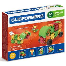 [送料無料] ( 70ピース ) Clicformers ブロック ビルディング オモチャ 車 乗り物 動物 組み立て セット キッズ 創造性 知育玩具 STEM おもちゃ 教育 学習 [楽天海外直送]