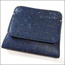 印伝 小銭入れ 印傳屋 財布 コインケース 1208 とんぼ (紺×黒)
