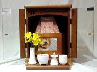 ペット仏壇骨壷を納められるガラス扉で色も選べる仏壇レギュラーサイズ四つ葉【送料無料】