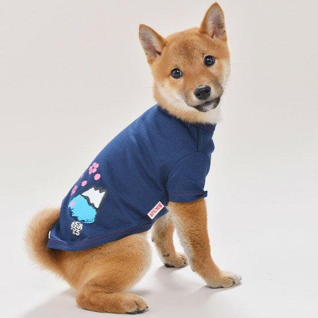 桜とふじさん風S/M/L和風あるくろぉす犬の服 犬服 ドッグウェア トイプードル チワワ ダックス パグ