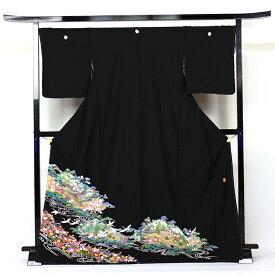 【レンタル】 留袖 レンタル 着物 黒留 加賀調・京友禅 黒留袖 19点フルコーディネートセット 結婚式 rental とめそで kimono きもの