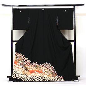 【レンタル】 留袖 レンタル 往復送料無料 着物 黒留 正絹 黒留袖 19点フルコーディネートセット 結婚式