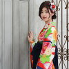 "With the hakama set graduation ceremony woman four points full set purchase graduation ceremony hakama set 2 shaku sleeve kimono & hakama ""cloth with arrow-feather patterns which is dark blue red in the cream place circle chrysanthemum"" retro univers"