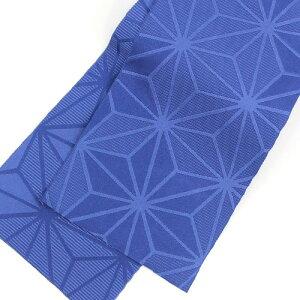 浴衣セットレディースレトロ高級変わり織り綿浴衣3点セット「生成り地に青のラメ牡丹」浴衣青クリーム牡丹