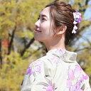 「なでしこ」日本製 浴衣 髪飾り クリップ「ぶら下がり付き古典柄髪飾り」花 ちりめん 大人 ヘアアクセサリー 浴衣用…
