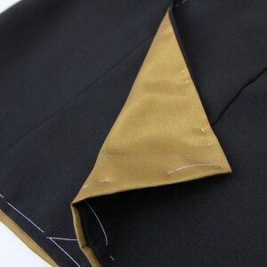 【七五三着物レンタル】七五三3歳男の子用被布着物7点セット「着物黒&被布コートちりめん風グレー無地」往復送料無料お正月兜刺繍入り