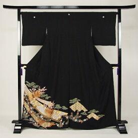 【レンタル】 留袖 レンタル 黒留 黒留袖 19点フルコーディネートセット 結婚式