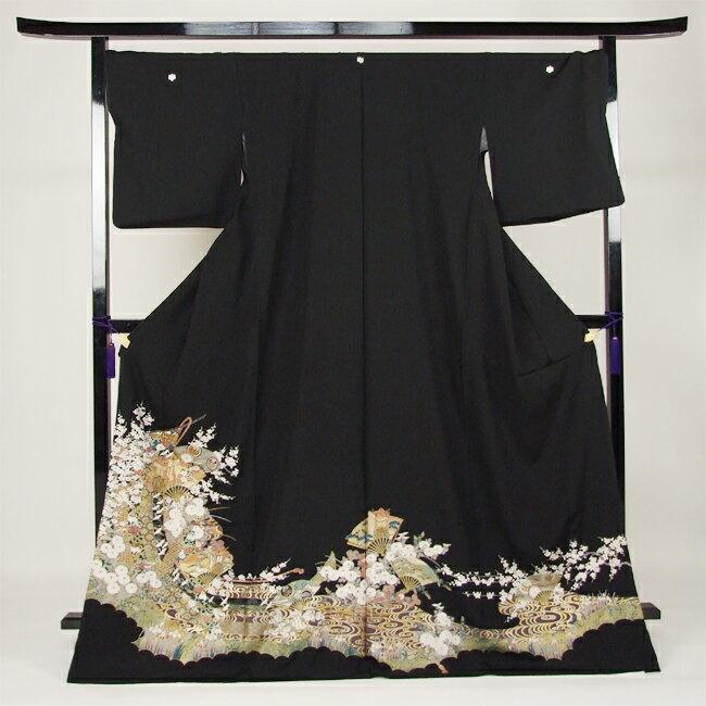 【レンタル】 留袖 レンタル 往復送料無料 着物 黒留 ゆとりサイズ 3L〜4LL対応 黒留袖 19点フルコーディネートセット 結婚式 rental とめそで kimono きもの