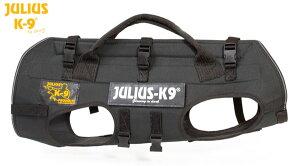 キャリアハーネス 降下用ハーネス 犬用 Julius-K9 ユリウスケーナイン Rappelling & carrying harness 超大型犬 XLサイズ 送料無料 カラー:ブラック ハーネス 犬