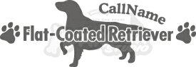 ドッグステッカー ドッグシルエット 【ペットネーム追加無料】全190犬種 A-Type Lサイズ ステッカー DOGステッカー DOGシルエット ドッグ DOG ペットグッズ オーナーグッズ プレゼント にも♪