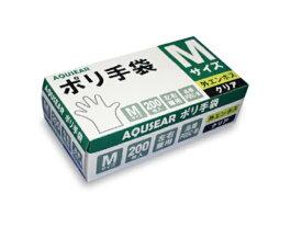 ポリ手袋 外エンボス M クリアPGSC-M 1ケース4,000枚(200枚箱入×20箱)