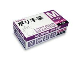 ポリ手袋 内エンボス M クリアPGUC-M 1ケース4,000枚(200枚箱入×20箱)