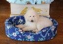 【Lサイズ】カバーと中身のセットオーソペディックカドラーカドラー アロハ柄とパウ柄 日本製 小型犬 中型犬 大型犬 猫 老犬
