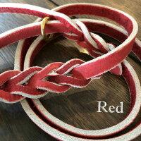 赤い革のリード