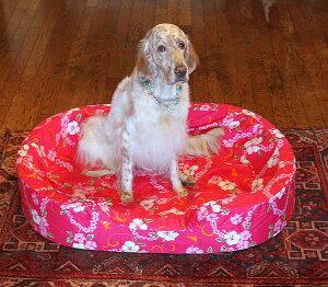 【XLサイズ】オーソペディックカドラー替えカバーなみなみウレタンのベッドラリカンオリジナル日本製 アロハ柄 パウ柄大型犬 中型犬 老犬