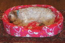 【XLサイズ】中身とカバーのセットオーソペディックカドラー日本製のベッド アロハ柄 小型犬 猫 中型犬 大型犬 子犬 成犬 老犬