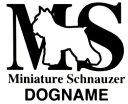 【シュナウザー】ミニチュアシュナウザーのカッティングシール【イニシャルタイプ】名入れなしの場合はー200円犬種別ステッカー