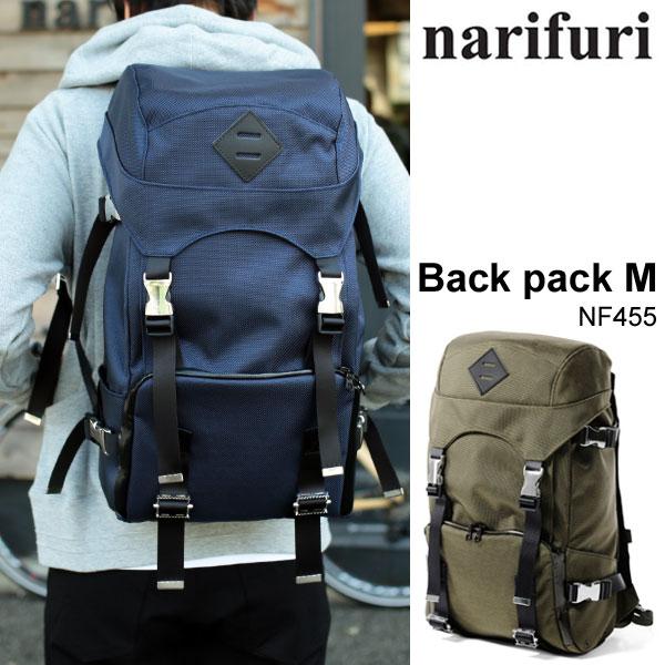 \全品ポイントアップ&2点で15%OFF/ナリフリ narifuri BACK PACK M[全2色](NF455)バックパック ミディアム メンズ レディース【鞄】_11510E(wannado)