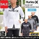 【SALE/20%OFF 】ハーレー ラッシュガード ラッシュジップオープンフード [全4色](MKHZLY50)Hurley RASH ZIP OPEN HO...