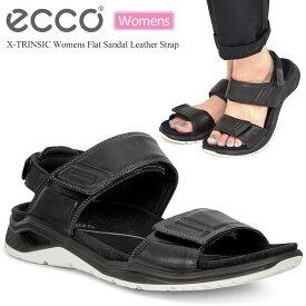 【SALE/20%OFF】エコー サンダル ECCO ウィメンズ フラットサンダル レザーストラップ【ブラック】(880613/22.5-24.5cm)X-TRINSIC WOMENS FLAT SANDAL LEATHER STRAP レディース【靴】_sdl_1907wannado【返品交換・ラッピング不可】