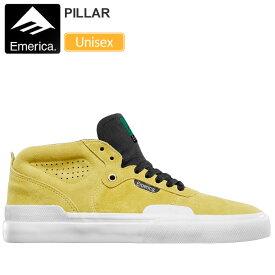 【正規取扱店】エメリカ EMERICA スニーカー スケートシューズ メンズ レディース ピラー イエロー 23-29cm PILLAR 20FW【靴】snk 2009wannado