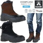 【正規取扱店】カミックkamikスノーブーツ防水メンズシャンプラン2CHAMPLAIN2ブラックダークブラウン25-29cm160050520FWwbt【靴】2011wannado