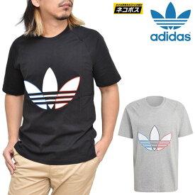 【正規取扱店】アディダス オリジナルス adidas Originals Tシャツ クルーネック メンズ アディカラートリコロールTEE グレー ブラック GQ8917 GQ8919 sst 21SS【服】2102wannado[M便 1/1]