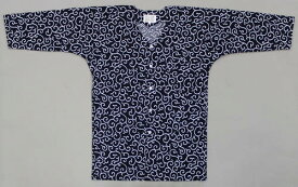 コダワリの濃紺:唐草鯉口シャツ大人 人気の鯉口シャツです