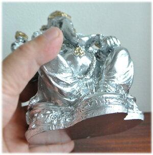 石膏のシルバーガネーシャ