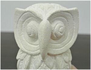 パラスストーンの白いフクロウの置物