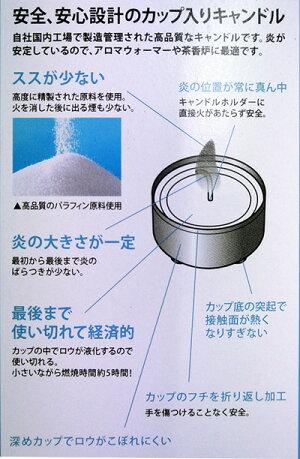 日本製のキャンドルアルミカップ入り(10個入)