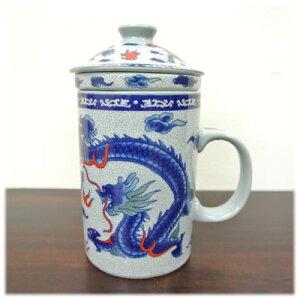 茶漉し付マグカップ[龍&鳳凰]