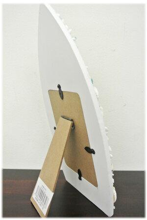 貝殻卓上フォトフレームサーフボート型