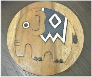 ゾウのウッドスツール