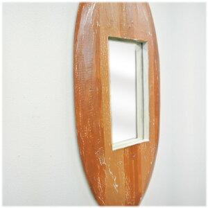 サーフボート型壁掛けミラー