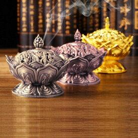 (蓮の花のミニ香炉[ブロンズ/赤銅/ゴールド])アジアン バリ 香炉に合うアジアン 雑貨 香炉 仏具 お香立て お香 セット 中国 インセンスホルダーや蓮 ロータス インドネシア アジアン雑貨 おしゃれ かわいい アジアンインテリア 花 フラワー インテリア アジア雑貨
