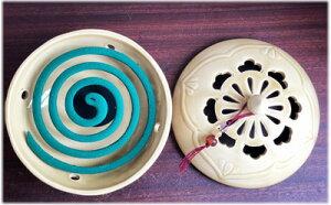 アジアン雑貨陶器のシノワ柄蚊遣り