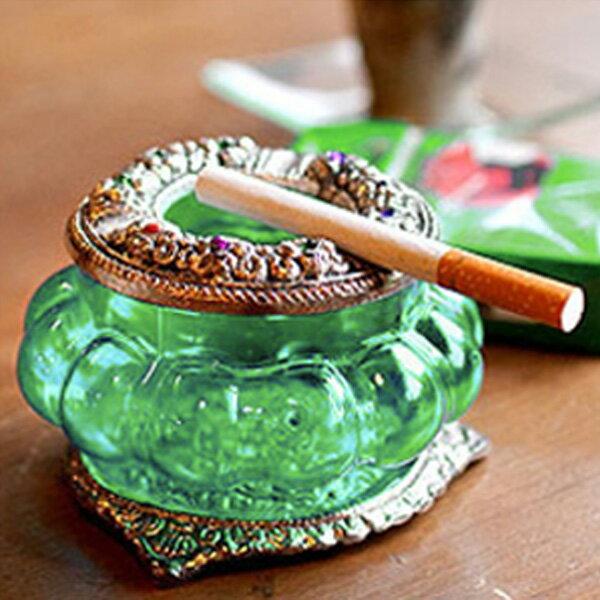 (ホワイトメタル カラーガラス 灰皿)アジア インド 雑貨 灰皿 おしゃれ インテリア雑貨 アジアン かわいい アジアンインテリア タバコ 吸殻 デザイン アシュトレイ たばこ 煙草 喫煙