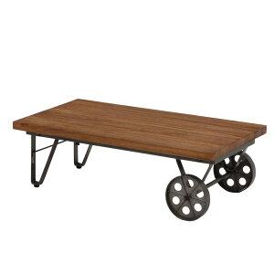 車輪型キャスター付きローテーブル