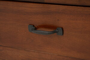 マホガニー材引出し付きサイドテーブル