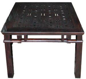アジアン家具4人掛け格子ダイニングテーブル