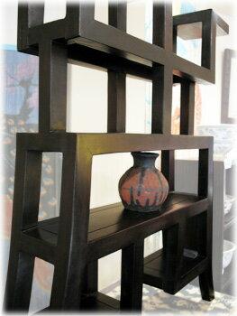 アジアン家具文様飾り棚S