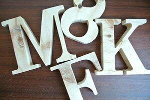 【木製アルファベット【小文字】オブジェ(a〜r)高さ7cmから】(アルファベットオブジェ木製ブロックインテリア置物おしゃれオシャレディスプレイ)